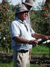 Tony Gilbertson at his orchard near Hastings