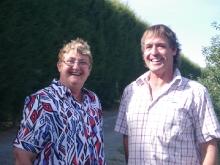 Andy with Barbara Haywood who named 'KORU®' apple