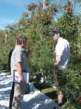 Andy McGrath with Byron Borton, Washington State grower