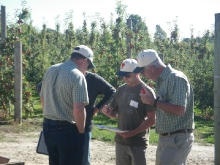 Greg Dryden, Fruition Horticulture, with USA Growers