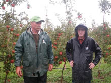 Leon Stallard and Jack Sowerby of St. Michaels Orchard, Hastings